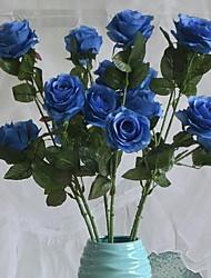 1 Ast Kunststoff Rosen Tisch-Blumen Künstliche Blumen 25*25*73