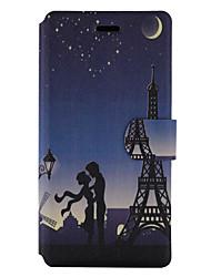 Pour Porte Carte Avec Support Clapet Motif Coque Coque Intégrale Coque Tour Eiffel Dur Cuir PU pour HuaweiHuawei P9 Lite Huawei P8 Lite