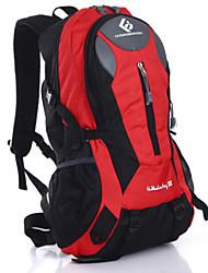 30 L Backpack Hiking & Backpacking Pack Waterproof Multifunctional Yellow Green Red Black Blue Dark Blue Light Blue