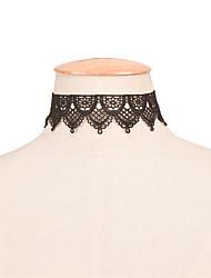 Women's Choker Necklaces Statement Necklaces Jewelry Lace Single Strand Fashion Personalized Euramerican Statement Jewelry White Black