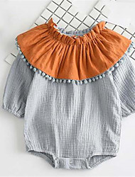 Baby Casual/Daily Patchwork One-Pieces,Cotton Summer Spring Fall ¾ Sleeve