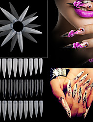 10pcs Salon Nail A Piece of Natural Transparent White Nails