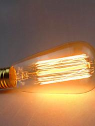 e27 220v 60w ST64 retro criativa decoração de tungstênio lâmpada