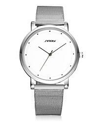 SINOBI Men's Dress Watch Fashion Watch Water Resistant / Water Proof Shock Resistant Quartz Stainless Steel Band Vintage Casual Silver