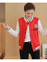 Signe 2017 nouvelles femmes étudiantes en couleurs mélangées manteau coréen court paragraphe sauvage lâche gros plan uniforme de baseball