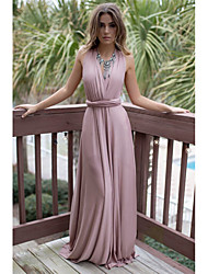 2017 Amazon aliexpress long section Halter Dress