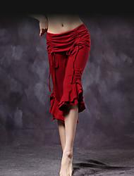 Dança do Ventre Fundos Mulheres Treino Algodão Dobras em Cascata Pano 1 Peça Caído Calças