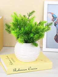 1 Филиал Пластик Полиуретан Pастений Букеты на стол Искусственные Цветы 32