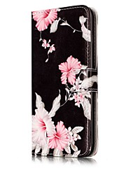For iPhone X iPhone 8 Case Cover Card Holder Wallet with Stand Flip Pattern Magnetic Full Body Case Flower Hard PU Leather for Apple