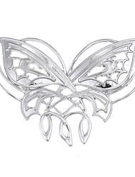 Lureme The Hobbit Brooch of Butterfly Pattern Antique Silver Pins Brooches