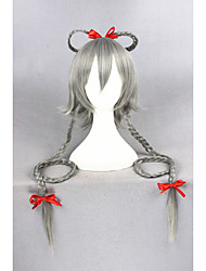 Long Vocaloid Wig Luotianyi Gray Synthetic 40inch Anime Cosplay Hair Wig CS-241B