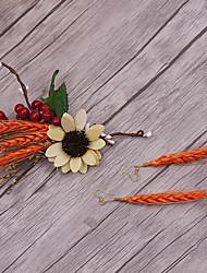 Alloy linho tecido headpiece-casamento ocasião especial casual exterior flores 3 peças
