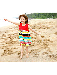 Girl's Beach Dress,Rayon Summer Sleeveless
