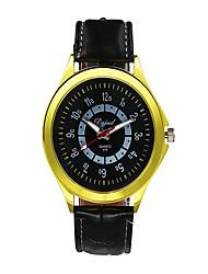 Masculino Relógio de Moda Quartzo Silicone Banda Casual Preta Amarelo Vermelho Verde