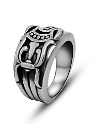 Stainless Steel Jewelry Vintage Sword Ring for Women Mens Black Silver Punk Rings Biker Accessories USA Size 6-11#