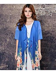 Women's Formal Simple Blouse,Solid U Neck Short Sleeve Cotton