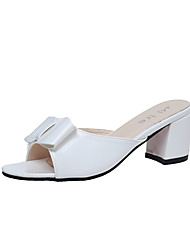 Women's Loafers & Slip-Ons Summer Slingback Club Shoes Patent Leather Dress Casual Chunky Heel Bowknot Walking