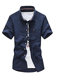 Men's Fashion Casual Simple Wild Large Size Short-Sleeved Shirt