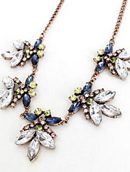 Women's Chain Necklaces Multi-stone Chrome Euramerican Fashion Jewelry For Party Gift 1pc
