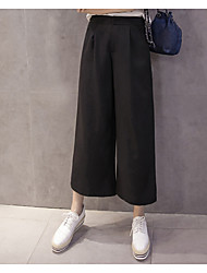Sign spring and summer new Korean high waist wide leg pants big yards loose pant casual pants straight female