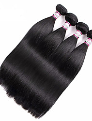 Brazilian Virgin Hair Straight 360 Full Lace Frontal Clousre with 3 Bundles Full Head Set