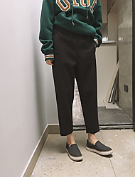textura macia grossa é super calça casual deus camurça calças nove pontos terno de lã calças harem