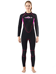 Women's 3mm Full Wetsuit Thermal / Warm Neoprene Diving Suit Long Sleeve Diving Suits-Swimming Diving Spring Summer Fall/Autumn Winter