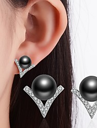 Women's Stud Earrings Imitation Pearl Rhinestone Classic Costume Jewelry Alloy Jewelry For Wedding Party Special Occasion Thank You