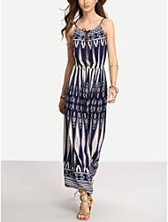 Commerce extérieur modèles d'explosion impression occasionnelle robe de taille robe de bohème de plage