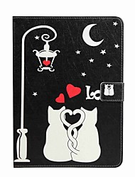 For Card Holder Wallet with Stand Flip Pattern Case Full Body Case Cat View Hard PU Leather for Apple iPad Pro 9.7'' iPad Air 2 iPad Air