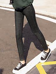 2017 signe version coréenne de la nouvelle taille élastique sauvage jean slim pieds pantalon crayon femme