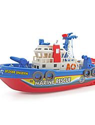 Brinquedo de Água Modelo e Blocos de Construção Noctilucente Som Barco de Guerra Plástico