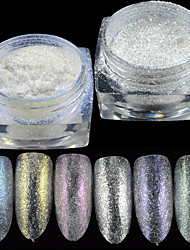 1bottle New Fashion Nail Art Micro Glitter Powder Sparkling Diamond Effect&Sparkling Pearl Effect Holographic Pigment Decoration Nail Art Beauty DS1-6