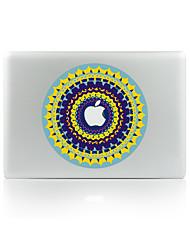 For MacBook Air 11 13/Pro13 15/Pro With Retina13 15/MacBook12 Circular Flower Color Decorative Skin Sticker Glow in The Dark