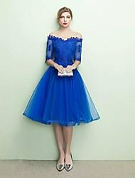 Vestido de bola vestido de vestido de dama de tul com arco