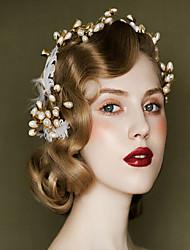 Pearl Headpiece-Wedding Special Occasion Casual Outdoor Tiaras Headbands Flowers Wreaths Hair Clip Hair Stick Hair Tool 1 Piece