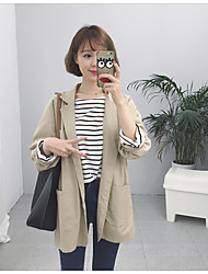 South Korean real shot was thin cotton loose large pocket three button suit jacket women