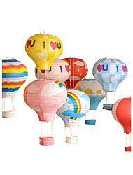 Multi color Hot Air Balloon Paper Lantern Wishing Lanterns For Birthday Party Decor Wedding Decorations-1Piece/Set