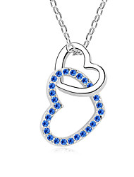 Women's Pendant Necklaces Crystal Chrome Animal Design Love Heart Fashion Personalized Euramerican Jewelry ForWedding Party Birthday