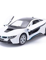Baustellenfahrzeuge Aufziehbare Fahrzeuge Auto Spielzeug 1:25 Metall Blau Schwarz Weiß Model & Building Toy