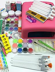 Artigos essenciais do prego 66pcs para o jogo do manicure do uso