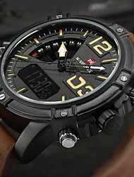 NAVIFORCE Men's Men Sport Watch Military Watch Dress Watch Fashion Watch Wrist watch Bracelet Watch Unique Creative WatchLED Calendar