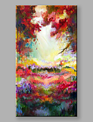 IARTS®Hand Painted Oil Painting Landscape Colorful Woods A with Stretched Frame Ready to Hang