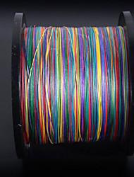 PE Braided Line / Dyneema / Superline Fishing Line Multicolored 0.1 mm ForJigging Sea Fishing Fly Fishing Bait Casting Ice Fishing
