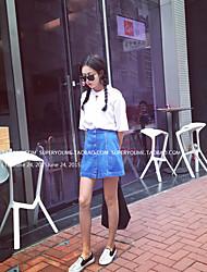 Nouvelle chute était maigre maillot manches longues manches longues chocolat coréenne sans manches en coton t-shirt féminin