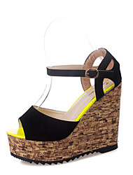 Sandals Spring Comfort PU Outdoor Wedge Heel