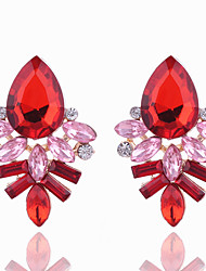 Crystal Geometric Stud Earrings Jewelry Geometric Party Daily Casual Crystal Alloy 1 pair Multi Color