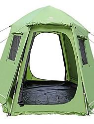 5-8 Pessoas Duplo Tenda Dobrada Um Quarto Barraca de acampamentoEquitação Campismo Viajar-Verde