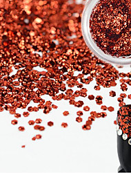1 Bottle Sweet Style Charming Red Nail Art Glitter Water Droplet Paillette Decoration Beautiful Shiny Sparkling Nail DIY Decoration Beauty Design D06