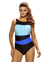 Women's Chic Color Block Accent Hollow-out One Piece Swimsuit